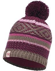 Buff Knitted and Polar Hat Accesorio para la Cabeza, Niña, Tipsy Amaranth Purple/Mardi Grape, Medium