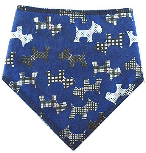 Spoilt Rotten Pets (S1 blau Scottie Hund Bandana-Größe 1-Fantastische Qualität verstellbares Design-für Tiny & Miniatur Hunderassen -
