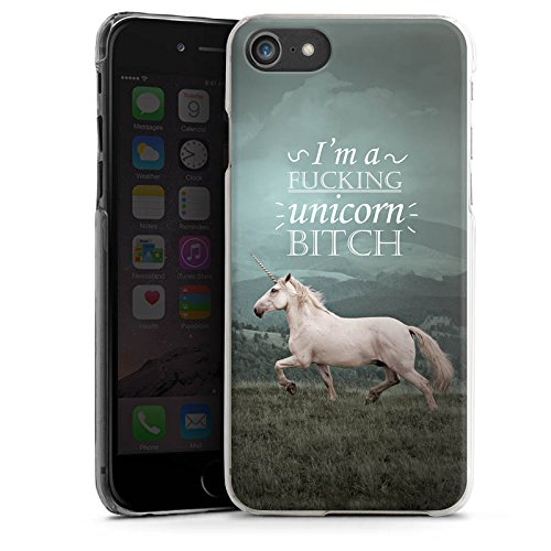 Apple iPhone X Silikon Hülle Case Schutzhülle Einhorn Unicorn Sprüche Hard Case transparent