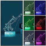 Nachtlicht Spiel 3D Lampe Arylic Crystal Rgb Veränderbare Led Stimmungslampe 7 Farben Nachtlicht Für Geburtstag Weihnachtsgeschenk (Crack Llama) @Crack_Scar