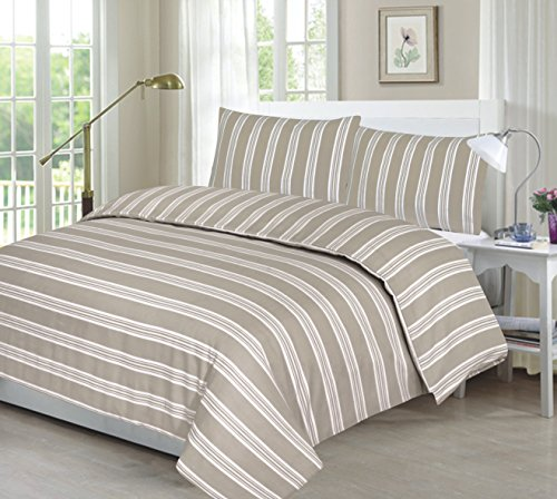 ARLINENS Duvet Quilt Cover with Pillowcases Bedding Set Exclusive Designs in Following Sizes: (SUPER KING, NATURAL EVE)