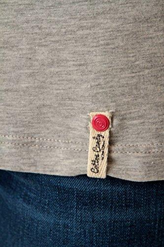 Cotton Candy Damen Shirt Motiv T-Shirt CLAUDETTE, Farbe: Grau Grau