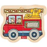Sigikid 40282 - Alter 24+ - Holzpuzzle Feuerwehrauto
