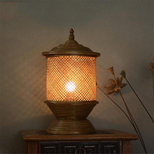 Charmant ELEGENCE Z Lampe De Table ThaïLande Sud Est Asiatique Style Bambou Chambre  Chevet Antique