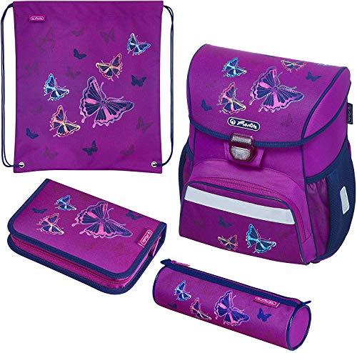 herlitz 50020485 Schulranzen Loop Plus Glitter Butterfly, 1 Stück