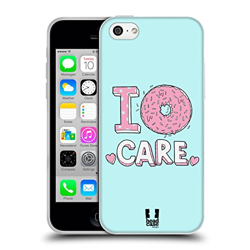 Head Case Designs Donut Care Strati Pastello Cover Morbida in Gel per Apple iPhone 5c