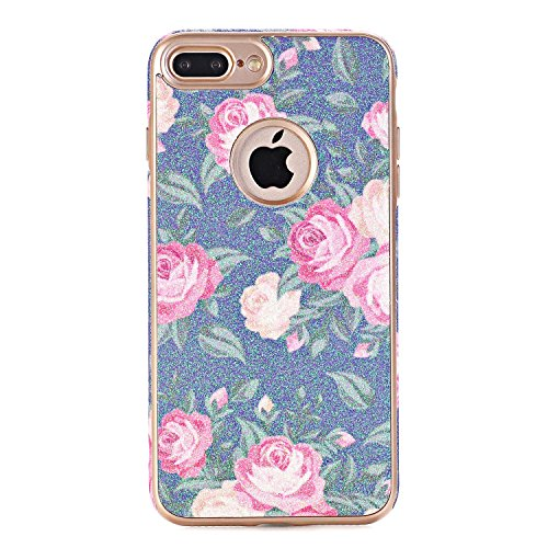 iPhone 7Case, elecfan Flower Pattern Soft Cover Shell Phone Skin Super Slim Screen Protective Smart Case for Apple Iphone 74.7inch A04