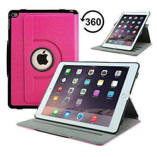 Fall Pink Apple Hot 2 Ipad (Apple iPad Mini 20,07 cm Neue ACcover Lederhülle mit Retina Display/Ständer für Schlaf- und Wachfunktion mit Magnetverschluss für Apple iPad WiFi 2013 16 GB, 32 GB, 64 GB, 128 GB iPair Air 2-Rotating Case Hot Pink)
