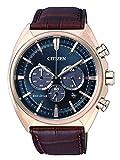 Citizen Herren-Armbanduhr Chronograph Quarz Leder CA4283-04L
