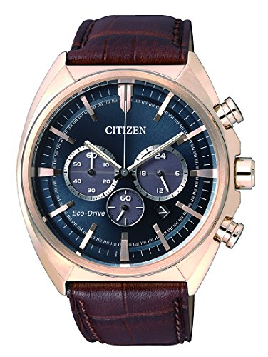 Citizen Men's Quartz Watch with Chronograph Quartz Leather CA4283 04L
