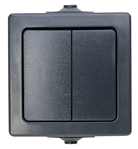 Kopp Nautic Serienschalter, Aufputz, für Feuchtraum, 250V (10A), IP44, anthrazit, 565515009