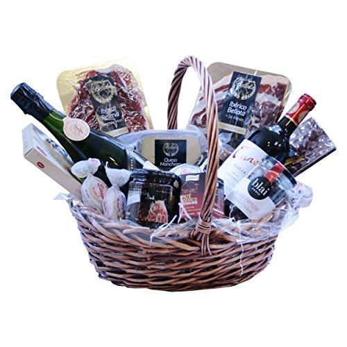 Gourmet Geschenke, Präsentkorb Spanien Tapas Ibéricas, Cava und Rotwein Rioja