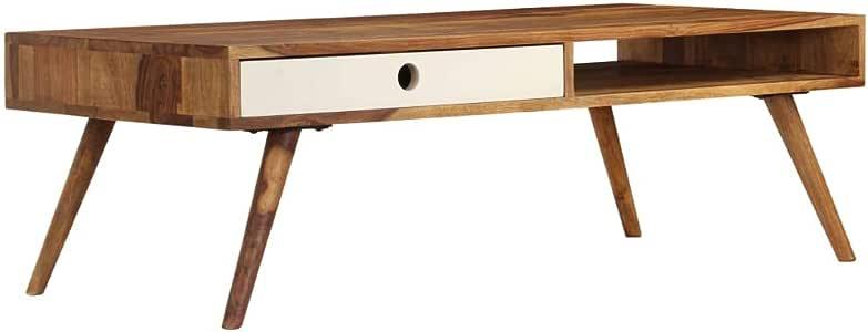 vidaXL Solid Sheesham wood Coffee Table 110x50x35cm Living Room Furniture