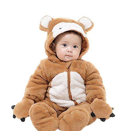 ge Winter Overall Jungen Mädchen Kleinkinder Kostüm Halloween Party Jumpsuit Winter Strampler Affe 59 (Baby Mädchen Affe Halloween Kostüme)