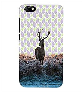 PrintDhaba Deer D-3428 Back Case Cover for HUAWEI HONOR 4X (Multi-Coloured)