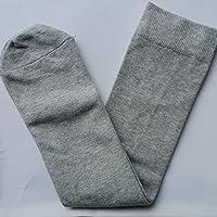 FERFERFERWON Calcetines de Confort Calcetines de Tubo de Viento de la Universidad Uniformes para Estudiantes Calcetines Sin tacón Calcetines de Mujer Calcetines hasta la Rodilla (Color: Gris)