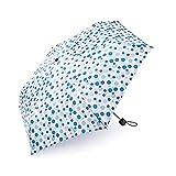 Regenschirm Kinder boy ® Taschenschirm Kinderschirm Für Mädchen und Jungen, Klein, Extra Leicht & Kompakt Mini Regenschirm, 207g, Wellenpunkt Blau
