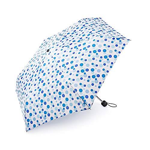 boy ® Regenschirm Für Mädchen und Jungen, Taschenschirm Klein Extra Leicht & Kompakt Reise Taschenschirm, 207g, Wellenpunkt Blau