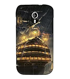 Fuson Designer Back Case Cover for Micromax Canvas HD A116 :: Micromax A116 Canvas HD (Ship in the rain theme)