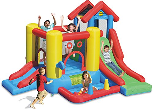 Happy hop- 7 in 1 play house, multicolore, 9019