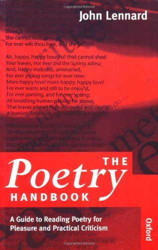 The Poetry Handbook: A Guide to Reading Poetry for Pleasure and Practical Criticism by John Lennard (1996-08-22)