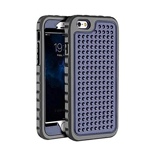 IPhone 6S Plus Case, Super Shockproof 3 In 1 Vollkörper Schutz PC Hard zurück Fall für IPhone 6S Plus / IPhone 6 Plus ( Color : Blue ) Blue