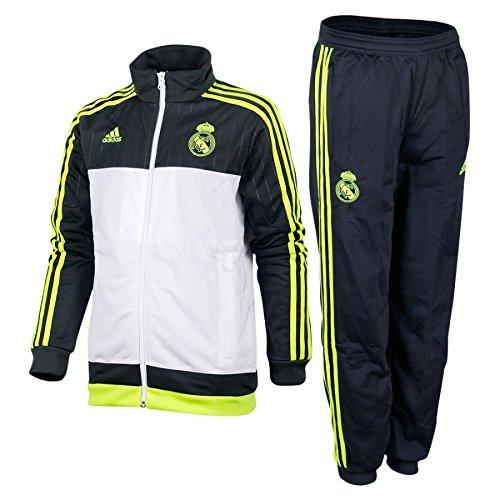 adidas Real Pes Suit YSurvêtement pour enfant, Real Madrid Pes, Gris / Lima / Blanco, 176