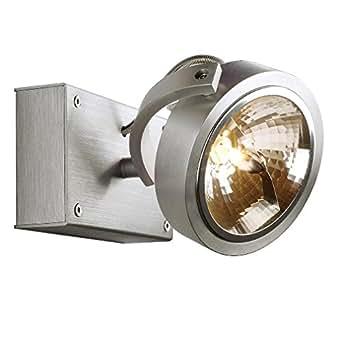 SLV KALU 1murale et plafonnier, QRB111, Maximum 50W Aluminium Brossé 147256