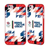 Official Team GB British Olympic Association Geometric Bring on The Great Red Fender Case for iPhone 6 Plus/iPhone 6s Plus