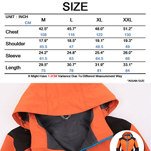 Zhuhaitf Uomo Giacca Sportiva Resistente ai Graffi Traspirante Impermeabile Giacca Cappotto Sportswear per Viaggiare Escursionismo ecc Blu