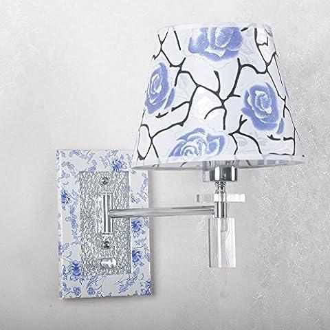 kinine chinois Art Moderne en Swing Arm Applique murale Bleu/Blanc Porcelaine Wandleuchte wandleuchten
