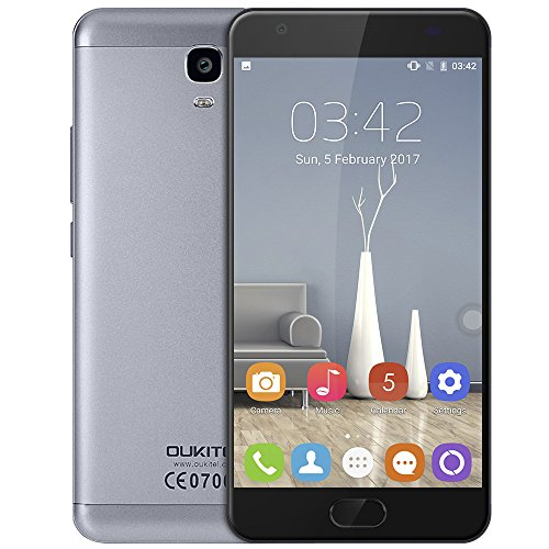 OUKITEL Smartphone Android 7.0 OUKITEL K6000 Plus 4G Phablet 5.5 Zoll Android 7.0 , 2 x Nano SIM Slot, 6080 mAh Schnell Aufladen in 1,5 Stunden, Dual Kameras