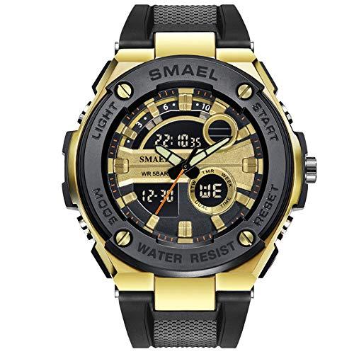 Liabb Jungs Uhren Uhren Uhren Uhren Kinder-Mode einfache Sportuhr Digitale Wasser-Wache-lässige Harz Armband-Kalender-Wecker für Männer Uhren,Gold,OneSize (Uhr Kind Digitale)