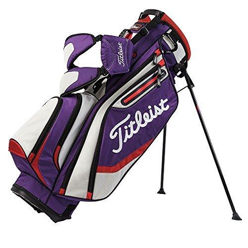 Titleist Lightweight Stand Bag, Purple/Gray/Fire Red by Titleist