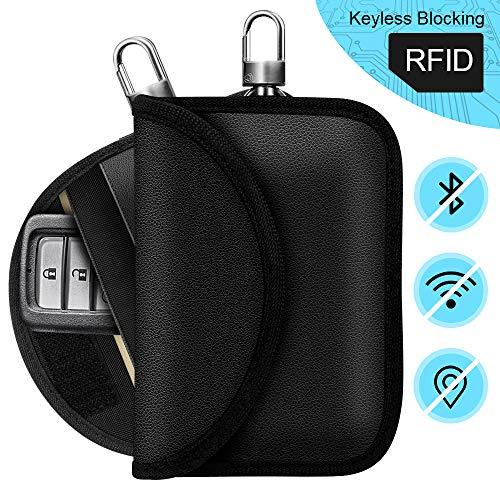 Keyless Go Schutz Autoschlüssel, RFID Auto Funkschlüssel Schlüsseltasche Schlüsseletui Faraday Bag Schlüsseltasche Abschirmung Keyless Blocking Auto Blocker für keyless Car Key Safe(2 Packs)