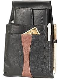 """Portefeuille """"Rimbaldi« Design Serveur et un étui de doux, non traité IIM en cuir de veau noir / brun Style"""