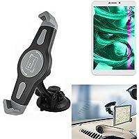 K-S-Trade para Kiano Slimtab 8 3G Montaje de Coche Soporte Parabrisas Ventosa Cuna del Tablero Escritorio para Kiano Slimtab 8 3G Tablet PC Soporte del Dispositivo de navegación Universal