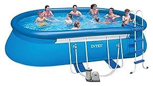 Intex - 57982FR - Jeu d'eau et de plage - Kit Piscine - Easy Set - Ovale