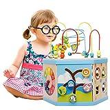 Lewo Grande 8 in 1 cubo di labirinto del branello primi bambini che imparano a giocattoli il centro di attività di legno dei giocattoli educativi per bambino