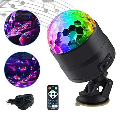 Auto Innenraum Atmosphäre DJ-Licht Maso Disco Ball Strobe Beleuchtung Sound Aktiv Funktion mit Zigarettenanzünder Wireless Fernbedienung für Camping Party
