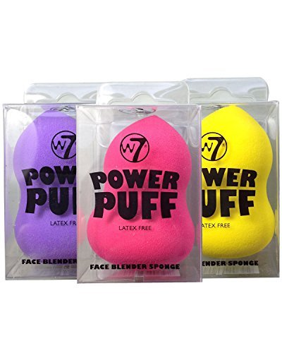 W7 Power Puff Latex Free Foundation Face Blender Sponge - Calabash