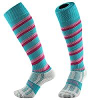 Samson Hosiery ® Swirl Spiral Candy Cane Print Funky Novelty Fashion Gift Socks Football Rugby Sports And Casual Knee High Socks For Men Women Kids Unisex (Small 12-3 UK, Swirl Turquoise)