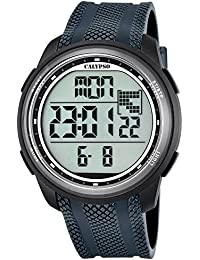 Calypso Reloj digital para hombre, cuarzo, PU, correa de color gris - UK5704/6