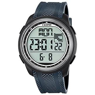 Calypso UK5704/6 – Reloj digital para hombre, cuarzo y correa de PU, color gris
