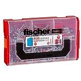 Fischer 541105 FIXtainer - Die DUOPOWER-Tiefenbiss-Box, Universaldübel, Dübelset, 210 Teile