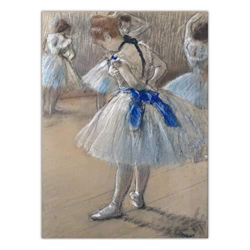 LKYH Dekoration Druck Leinwand Kunst Wandbilder für Wohnzimmer Poster Gemälde Französisch Edgar Degas Balletttänzer -60cm*90cm(Rahmenlos) -