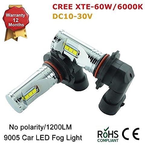 CREE Xte 9006HB4HB39005914560W 6000K Voiture LED Feu de brouillard ampoules lampe (lot de 2)