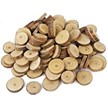 oulii troncos de madera decm rodajas de discos para bricolaje boda centros