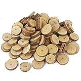 OULII Holz-Scheiben Scheiben Log 1.5-3CM Für DIY Handwerk Hochzeit Mittelstücke-100st
