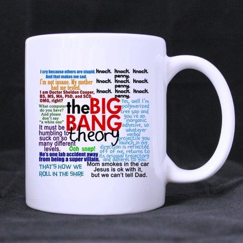 The Big Bang Theory Citation Tasse en céramique Blanc, drôle Citations Tasse à café, café/thé potable tasse avec poignée. (11oz) (deux côtés), Mugs-Tasses-fan-serie